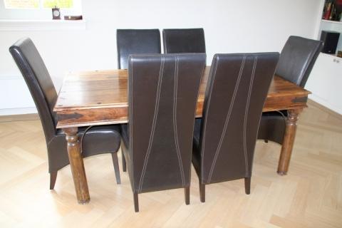 Eettafel stoelen leer: eetkamerstoel armleuning freek leren