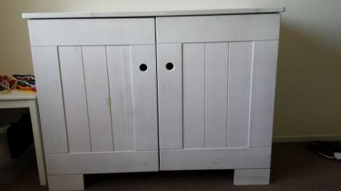 White Wash Kast : Houten meubels white wash maken bouwgemak