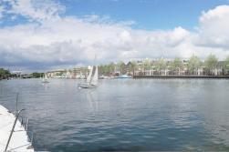 Schets Vechtstadje Nijverheidslaan, gezien vanaf Lange Muiderweg / Vecht