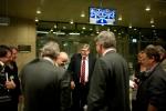 Van Beek (m) tijdens het debat in de Kamer, samen met de wethouder van Bussum.