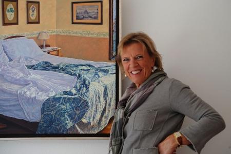 DiemerNieuws - Diemense Kunstenaar Yvonne Melchers Werkt Afwisselend In Diemen En In Italie