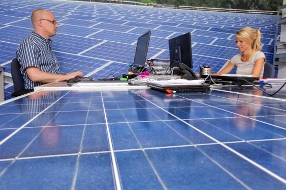 Bij SolarClarity in Weesp / foto Brian Elings