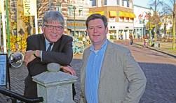 De wethouders Wimar Jaeger en Floris Voorink