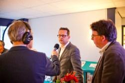 Van Unnik bij het lijsttrekkersdebat voor de gemeenteraadsverkiezingen op Radio Weesp