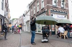 Opnames in de Slijkstraat. Foto: Eric Hage.