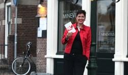 Vreneli Stadelmaier bij de presentatie van haar boek 'F*ck die onzekerheid'.