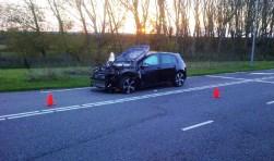 De auto na de aanslag in Almere