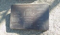 De plaquette met de namen van de gevallenen in Eemnes tijdens de Tweede Wereldoorlog