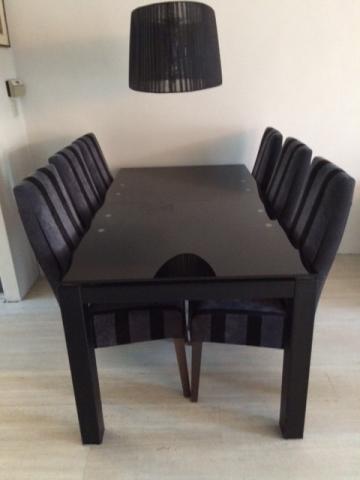 Compleet Eettafel Met 6 Stoelen.Iets Nieuws Zwarte Eettafel Stoelen Xek86 Agneswamu