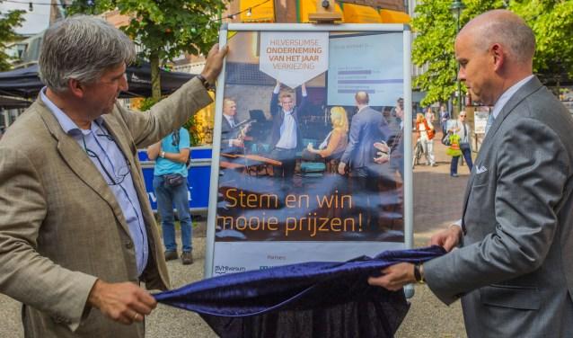 Wimar Jaeger (links) en Johan Drost trapten in juni de verkiezing voor Onderneming van het Jaar af. Foto: Bastiaan Miché