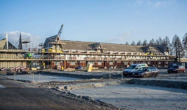 De bouwplaats aan de Papelaan.