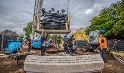 De plaatsing van het MH17-monument, vorige week