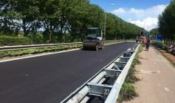 Nieuwe laag asfalt voor N236