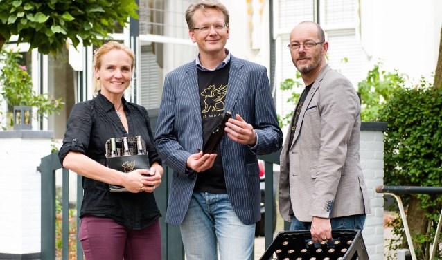 Arjanneke van den Berg, Guido de Wit en Gijs Troost staan te trappelen om in Mout te brouwen. (Foto: Rick Mandoeg)