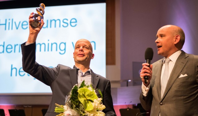 Een blije Marcel Schevers nam de prijs in ontvangst. Foto: Bastiaan Miché