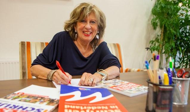 Gerda Franken: 'Mijn doel is om mensen te enthousiasmeren en te motiveren om de Nederlandse taal te leren.'