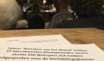 Het Comité Zelfstandig Weesp laat van zich horen. Dit is overigens niet de brief, maar een pamflet dat werd uitgedeeld op de forumavond.