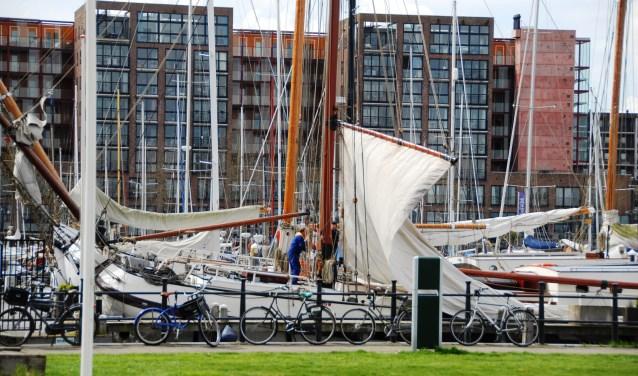 De haven van IJburg is natuurlijk onderdeel van de waterroute.