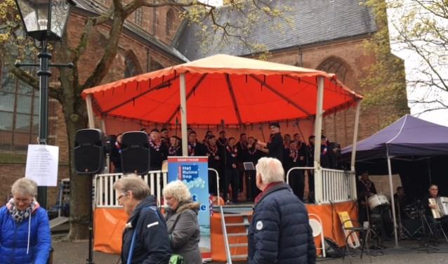 De muziektent wordt voor diverse evenementen gebruikt.