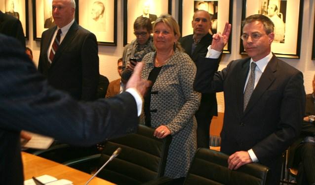 Lodewijk Zweers hier rechts op de foto toen hij begon in de raad.