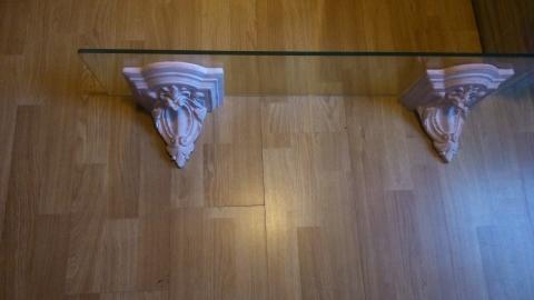 Boekenplank Zonder Steunen.Mooie Glazen Wandplank Boekenplank Met Steunen In Landelijke Stijl