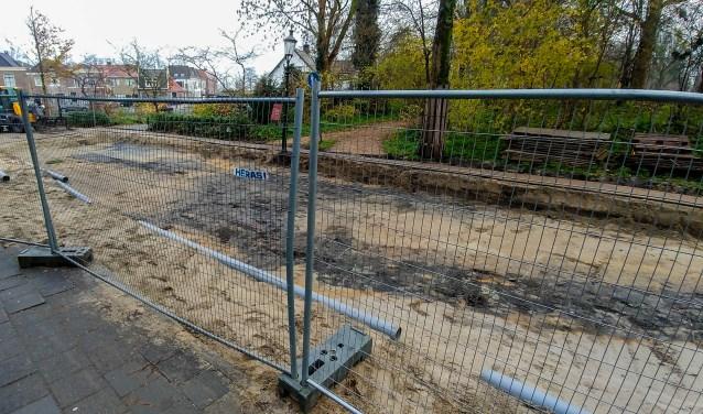 De sporen van de oude Utrechtse poort.