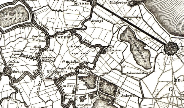 Weesp en omgeving in 1810.