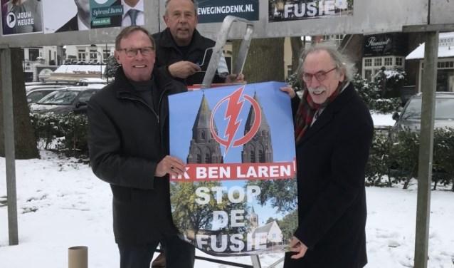 De posteractie 'Stop de Fusie' van eerder dit jaar.