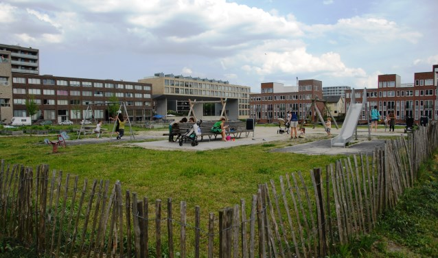 Op Kavel 13A wonen aan het einde van het jaar 180 statushouders en studenten door elkaar.