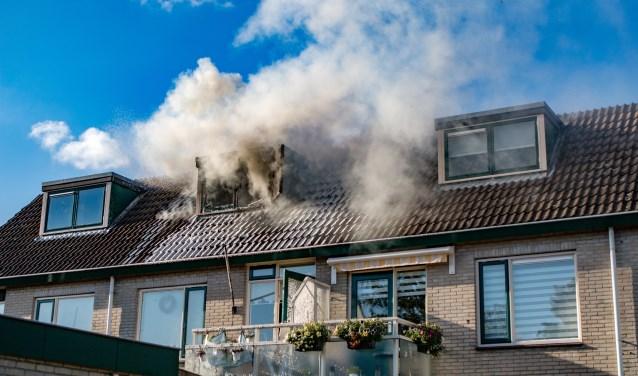 De brand woedde op de derde etage.