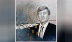 Een uitsnede uit 'Je Maintiendrai', schilderij in olieverf van Janine Boot.