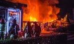 De brand bij de Volks Tuinder Verenging.