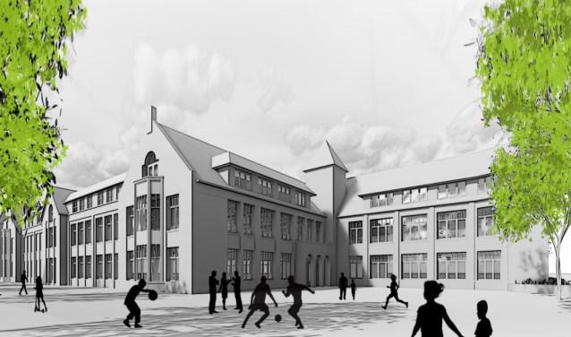 Beeld van toekomstige school Weespersluis