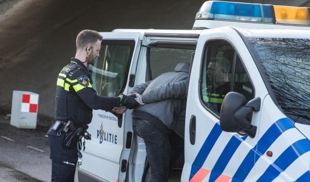 Arrestatie op de Wakkerendijk