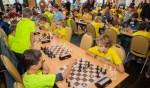 Naast de wereldtop schaken woensdag ook basisscholieren en leerlingen van het middelbaar onderwijs in het Hilversumse museum.