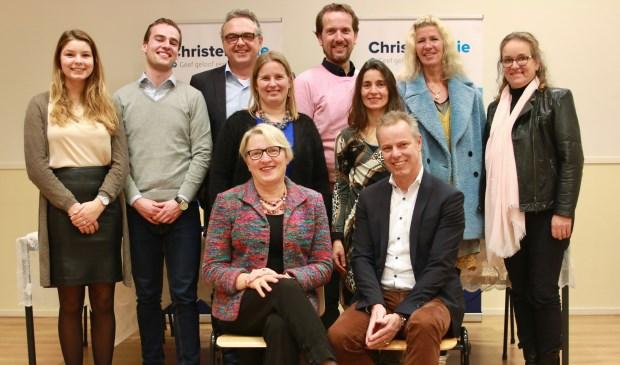 De kandidaten waarmee de ChristenUnie de gemeenteraadsverkiezingen in wil gaan.
