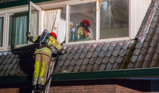 In Huizen was er brand aan de Julianastraaat.