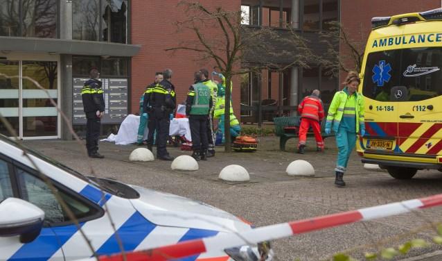 De bewoner overleed na een val van de eerste etage.