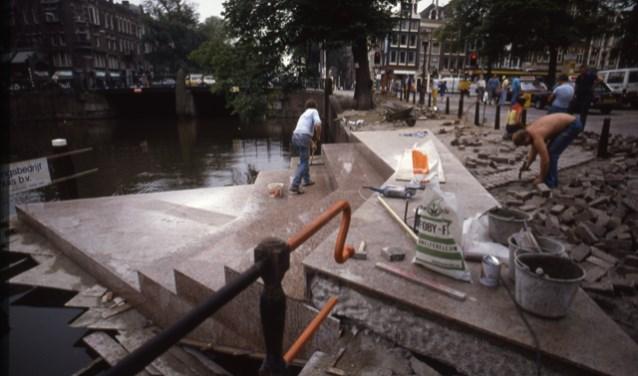 Het Homomonument in Amsterdam.