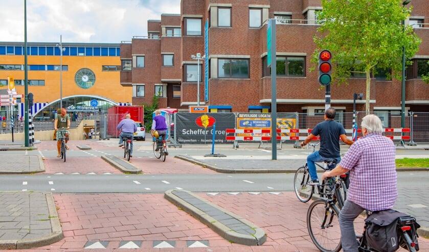 Rondom het GAK-gebouw is het voor fietsers momenteel gedoe.