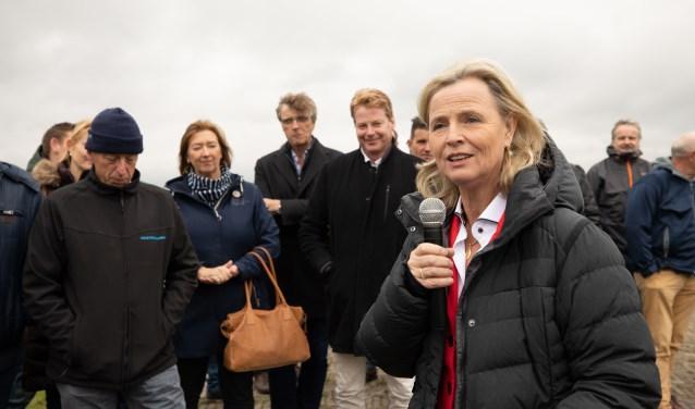Annie Schreijer-Pierik bezocht gisteren Eemland.