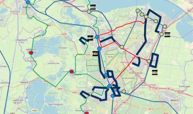 De buslijnen die volgens de SP geschrapt zouden worden.