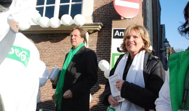 In 2010 was Pechtold in Weesp, samen met Pia Dijkstra.