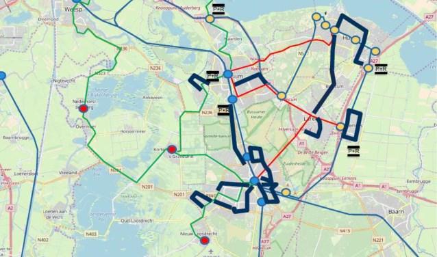 De buslijnen die mogelijk verdwijnen.