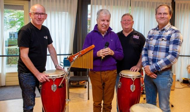 Joop, Kees, Joris en Maarten Pieter spelen allemaal een belangrijke rol bij het concert.