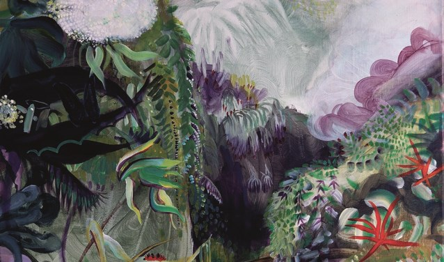 'Cloud forest', olieverf op doek.