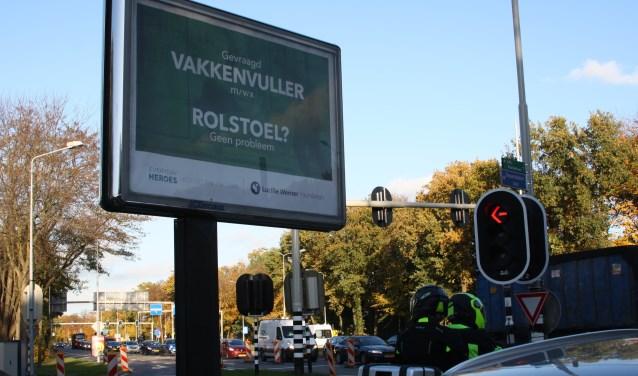 Het billboard op de Diependaalselaan.