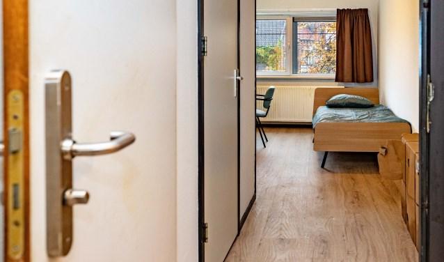In totaal zijn er acht kamers in de regionale opvang in Hilversum.