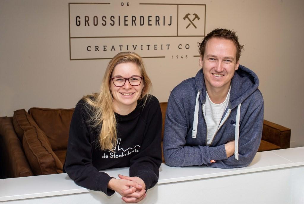 Iris Schultheiss en Geert-Jan van Dijken zijn twee van de initiatiefnemers voor een kerstborrel voor zzp'ers .