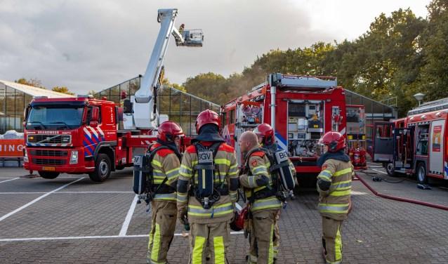 De hoogwerker werd onlangs nog ingezet bij de brand bij Tuincentrum Rebel.